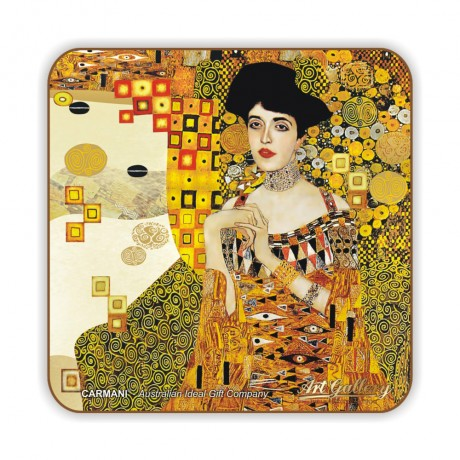 1 pc of cork pad / coaster decorated with Adele by Gustav Klimt