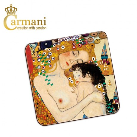1 piece cork pad / coaster decorated with Three Ages of Woman by Gustav Klimt