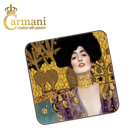 1 piece cork pad / coaster decorated with Judith by Gustav Klimt