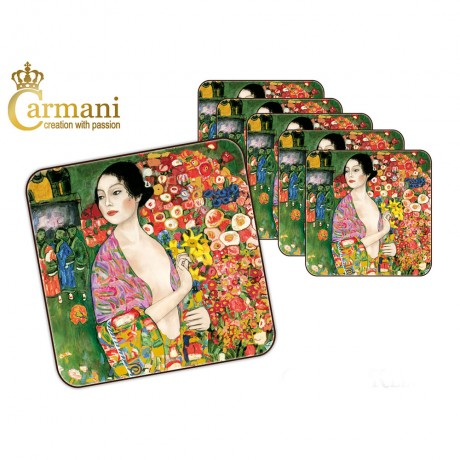 1 piece cork pad / coaster decorated with The Dancer by Gustav Klimt