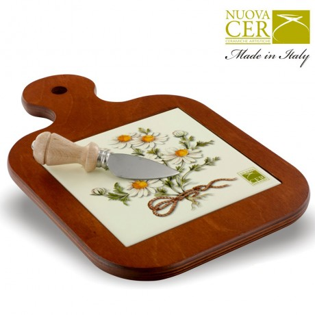 Cheese knife with board - Botany