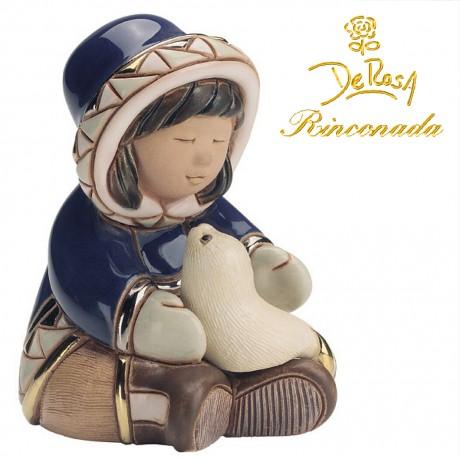 Girl with Seal Figurine