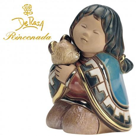 Girl with Teddy Bear Figurine