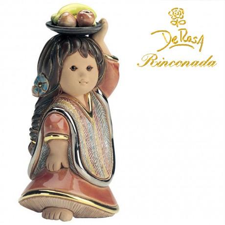 Girl with Fruit Figurine