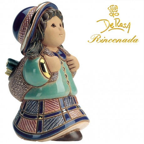 Girl with Backpack Figurine
