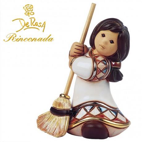 Girl with a  broom Figurine