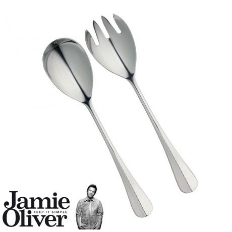 Vintage serving spoon & fork - set of 2