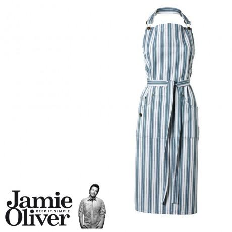 JO Steel Blue Striped Apron