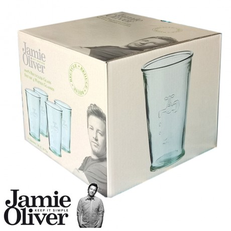 JAMIE OLIVER Recycled Water Glasses set of 4