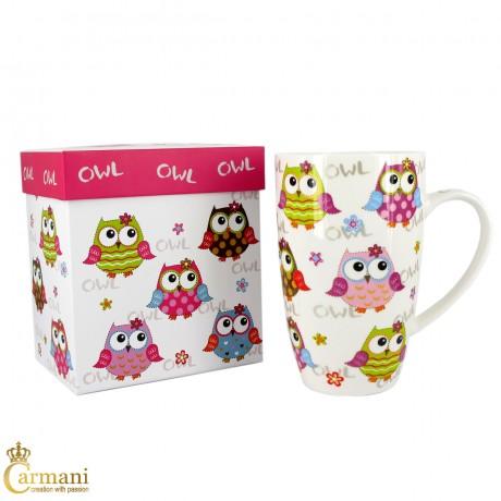 Owl Design Coffee Tea Drinking Mug 400ml