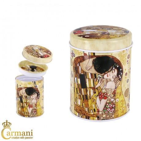 Gustav Klimt The Kiss Small Metal Tin Storage Box with Lids 6.5x9cm