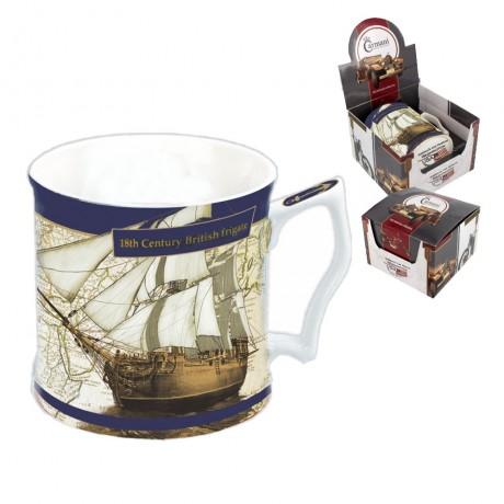 Mug for a Man 480 ml - 18th century British frigate ship