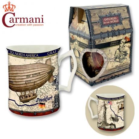 Porcelain mug 400 ml - Transatlantic Flights - tea or coffee mug