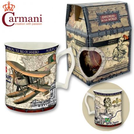 Porcelain mug 400 ml - First Airplane Flight - tea or coffee mug