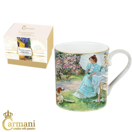 Classic Mug decorated with Alexandr Averin painting 380 ml