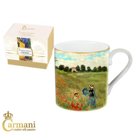 Classic Mug decorated with Monet 'Poppies' painting 380 ml