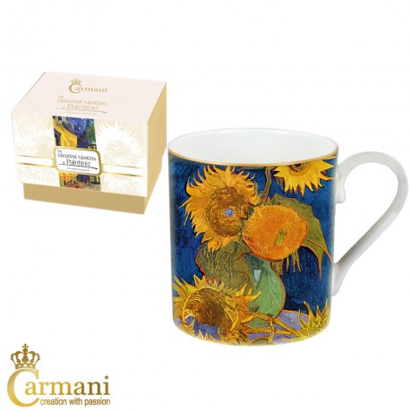 Classic Mug decorated with Van Gogh 'Sunflowers' painting 380 ml