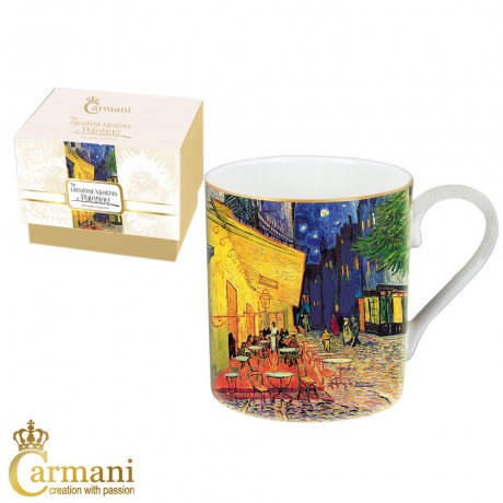Classic Mug decorated with Van Gogh 'Café Terrace at Night' painting 380 ml