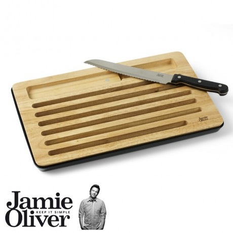 Bread chopping board & knife