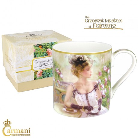 "Classic Mug decorated with Razumov ""Cup of Tea"" painting 380 ml"