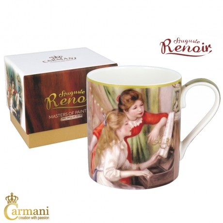 "Classic Mug decorated with Renoir ""Two Young Girls At The Piano"" painting 380 ml"