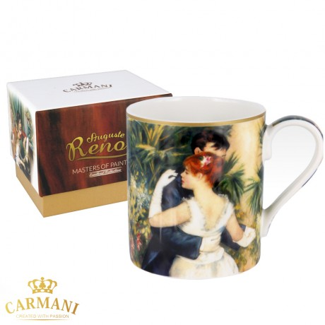 "Classic Mug decorated with Renoir ""Dance In The City"" painting 380 ml"