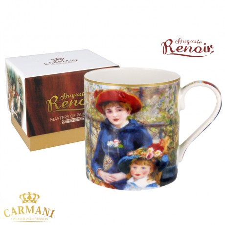 "Classic Mug decorated with Renoir ""Two Sisters"" painting 380 ml"