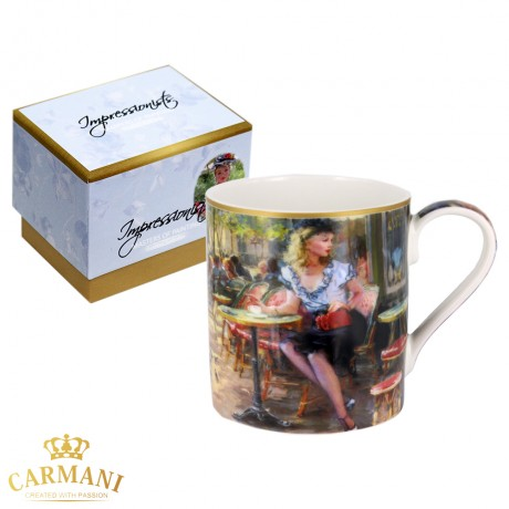 Classic Mug decorated with Impressionist painting - Victoria 380 ml