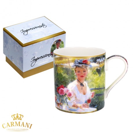 Classic Mug decorated with Impressionist painting - Sisi 380 ml