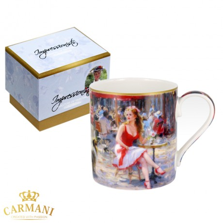 Classic Mug decorated with Impressionist painting - Sofia 380 ml