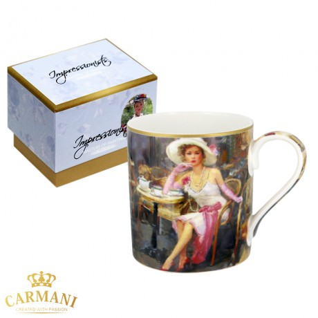Classic Mug decorated with Impressionist painting - Violetta 380 ml