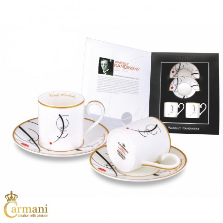 2-pieces Espresso Set with Wassily Kandinsky Free curve to the point 100ml