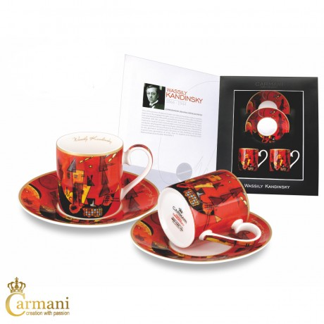 2-pieces Espresso Set with Wassily Kandinsky With and against 100ml