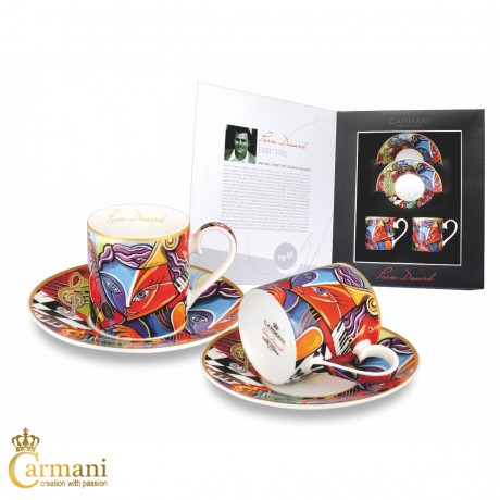 2-pieces Espresso Set with Pierre Dissard Virtuoso 100ml