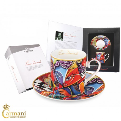 Tea Cup and Saucer, Fine Bone China, with Pierre Dissard Virtuoso 250ml
