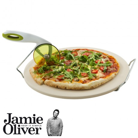 JAMIE OLIVER Pizza stone and serving rack set