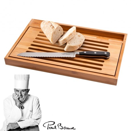 PAUL BOCUSE Bistro Bread Cutting Board with knife
