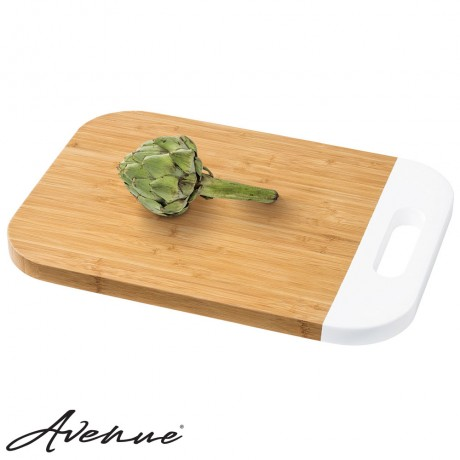 Bamboo Cutting Board - white