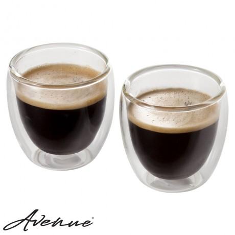 Double-walled Italian Espresso Set - 2 pieces
