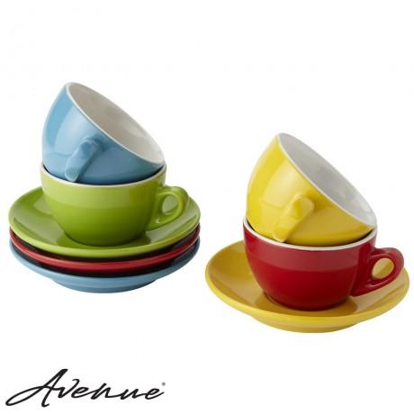 Colorful Italian Cappuccino Set - 4 pieces