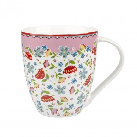 Queens Caravan Trail St Mawes Mug Fine China