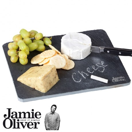 JAMIE OLIVER Chalk 'n cheese set Slate Cheeseboard with chalk