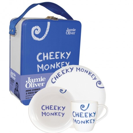 3 Piece Cheeky Monkey Breakfast Set for boys